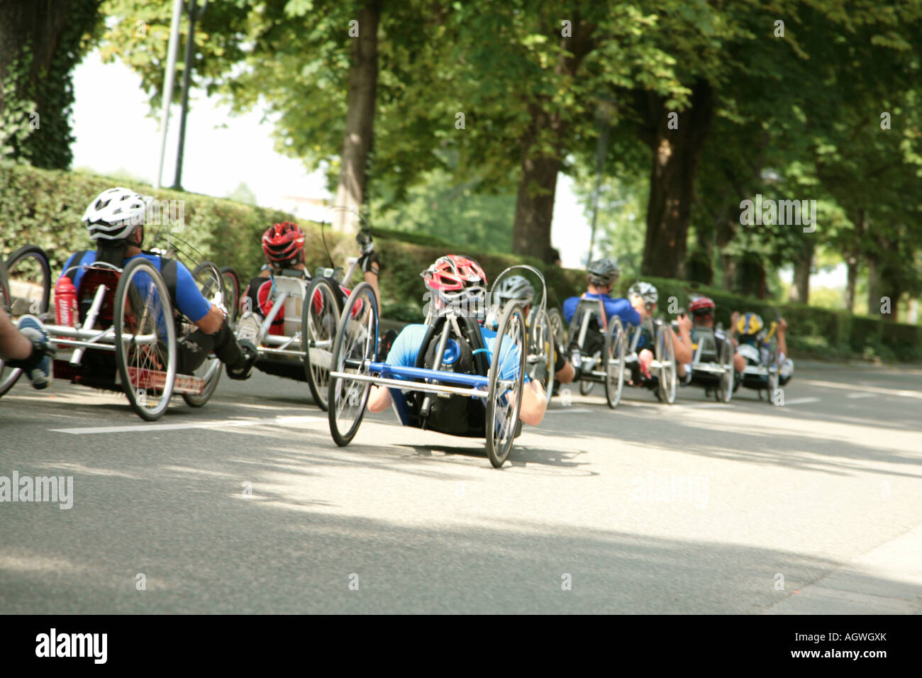 international wheelchair marathon Rollstuhlmarathon Stock Photo
