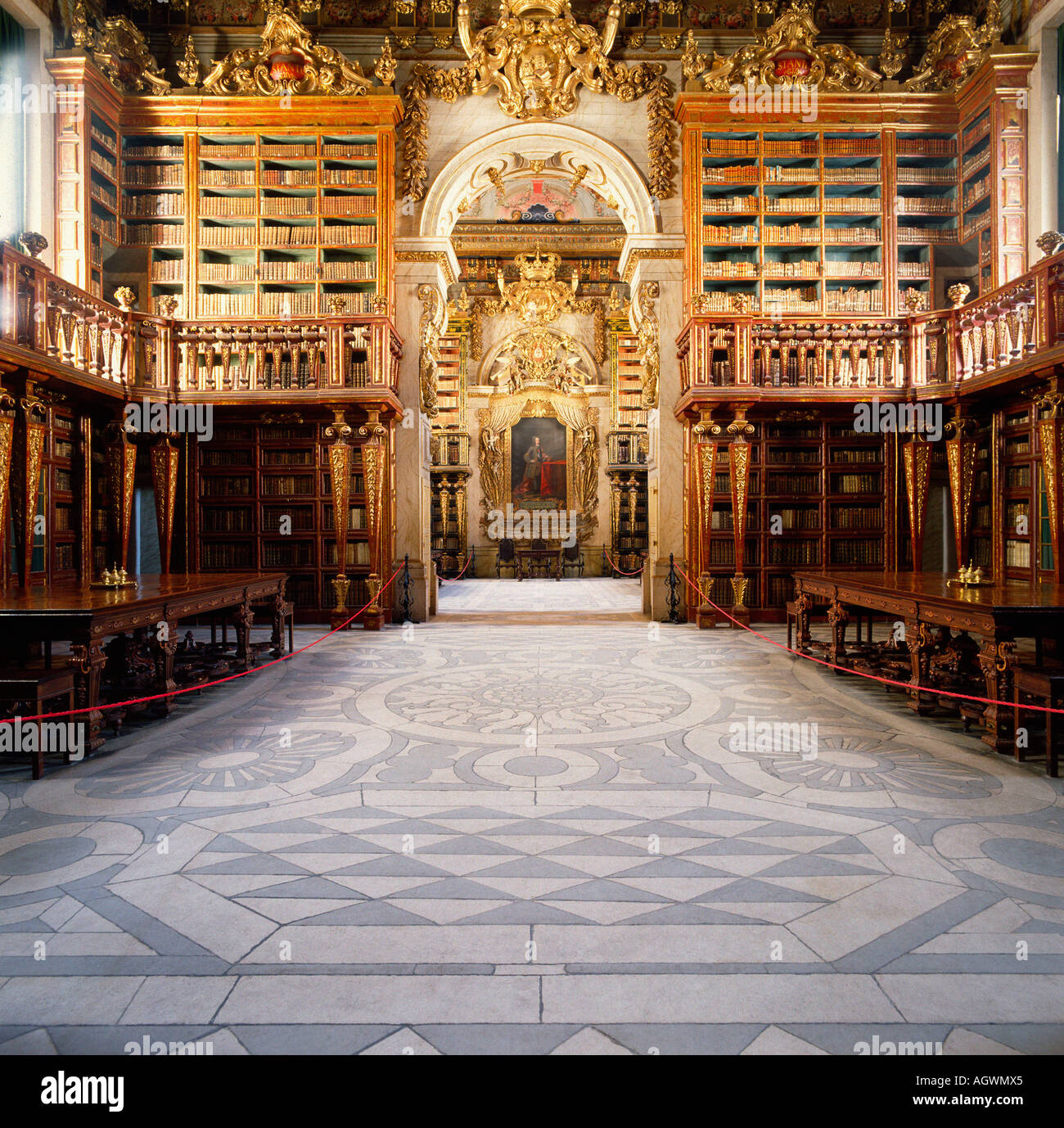 Old bibliotheque / Coimbra - Stock Image