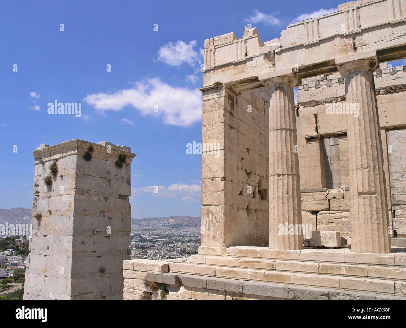The Propylaea Acropolis Athens Greece Stock Photo