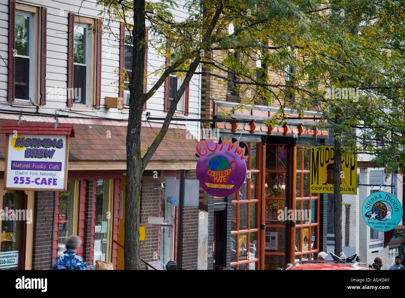 New Paltz New York >> Main Street In College Town New Paltz New York Features Many