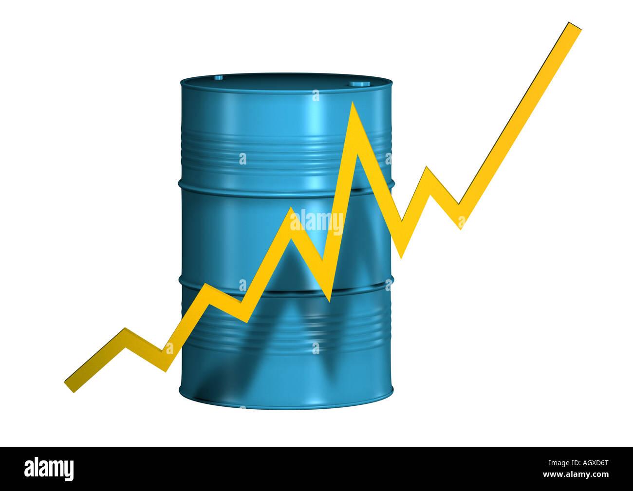 oildrum Oelfass Stock Photo
