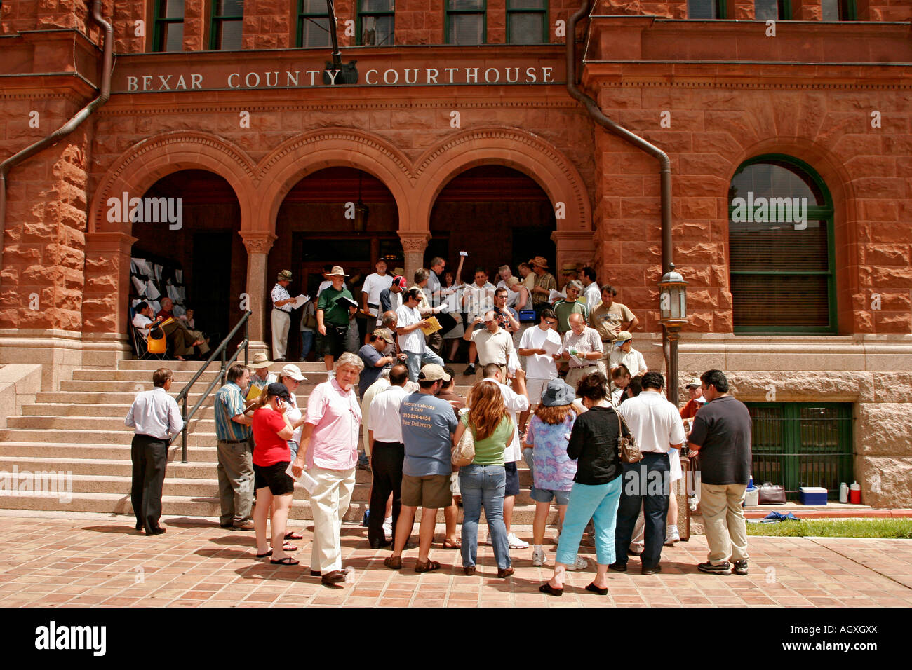 Foreclosure Auction At The Bexar County Courthouse In San