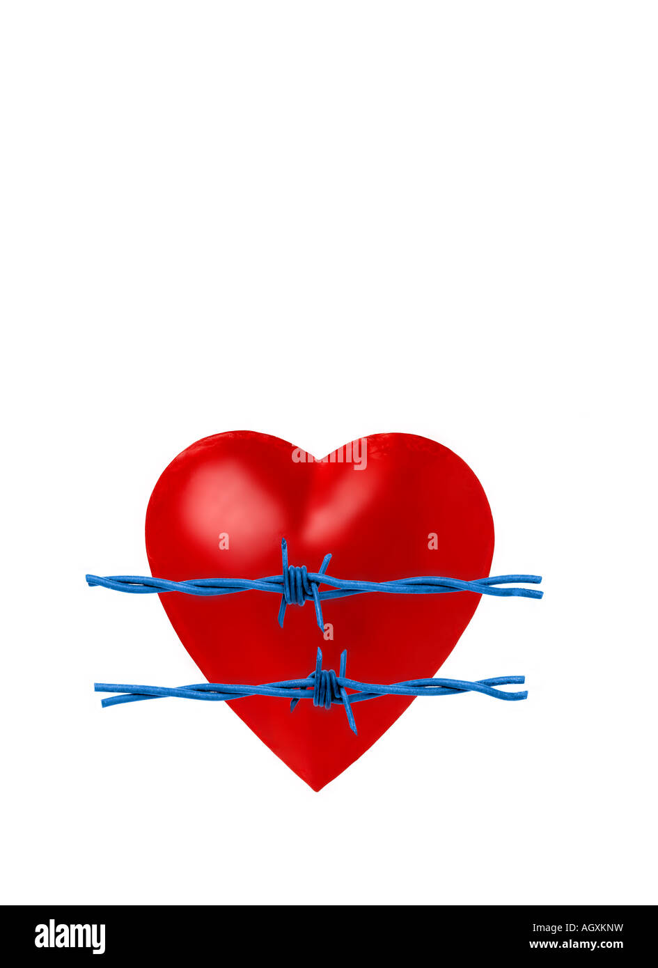 barbed wire heart Stock Photo: 14300532 - Alamy