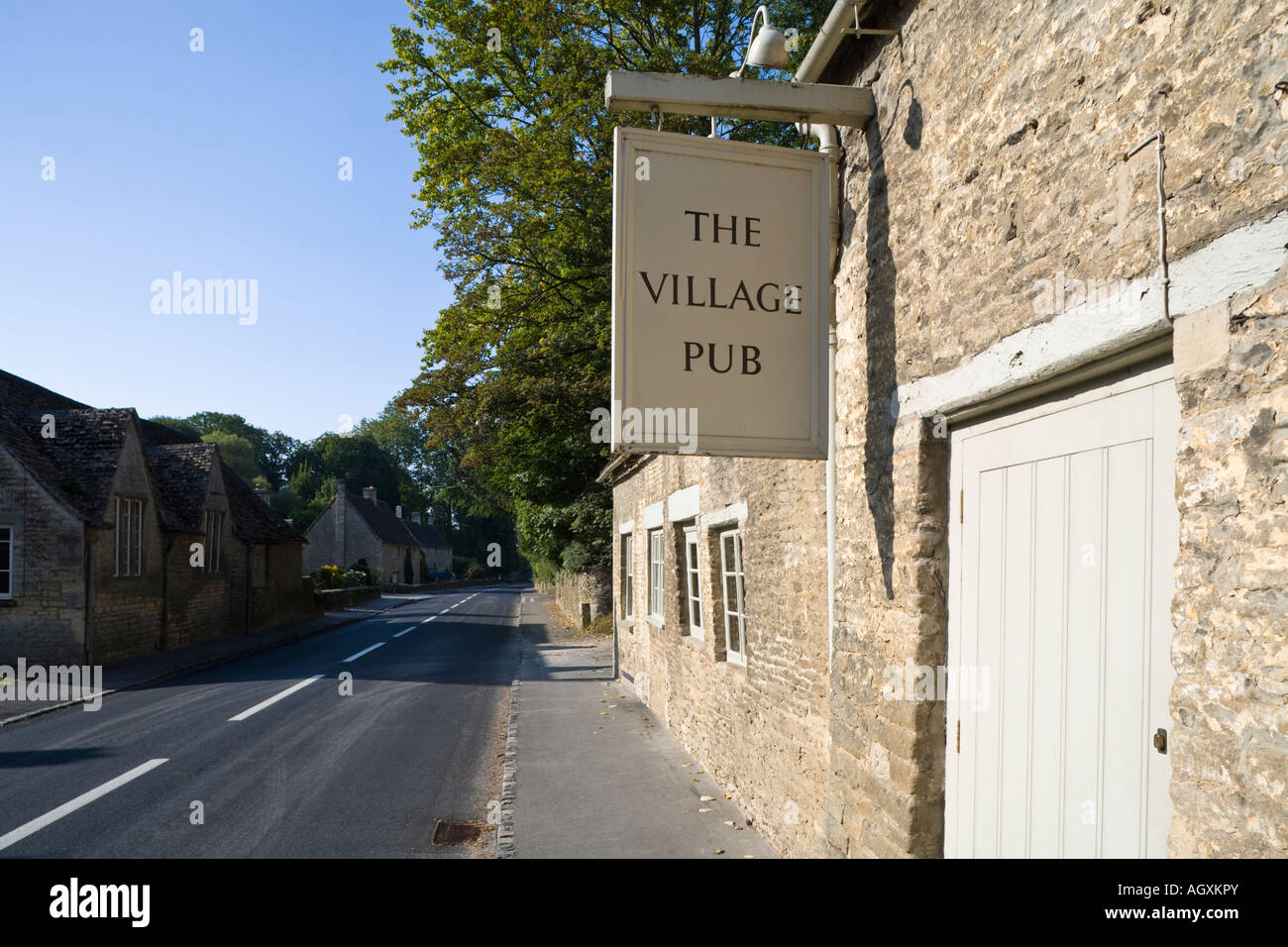The Village Pub in the Cotswold village of Barnsley, Gloucestershire - Stock Image