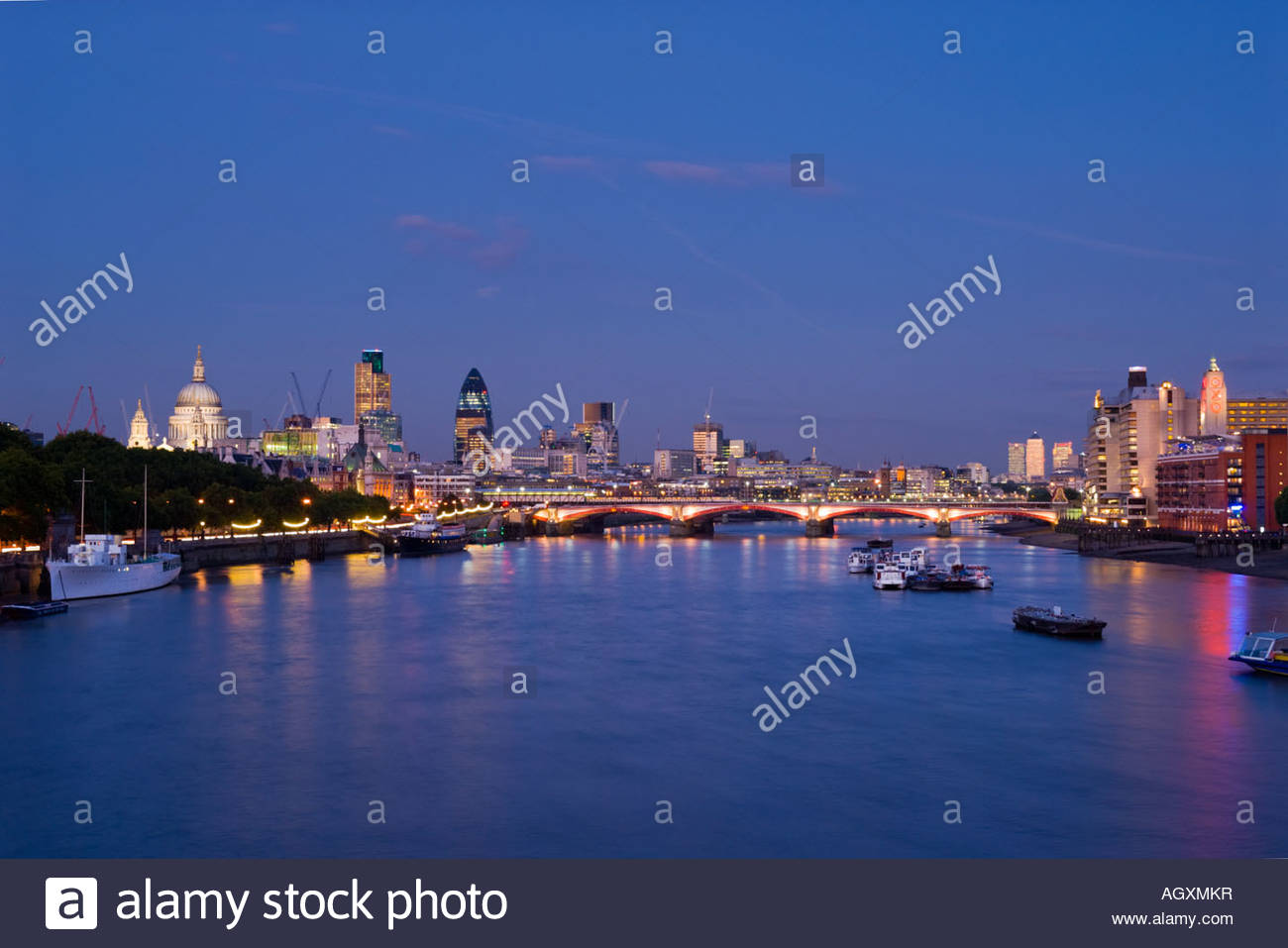 The City of London and the river Thames, London, England. - Stock Image