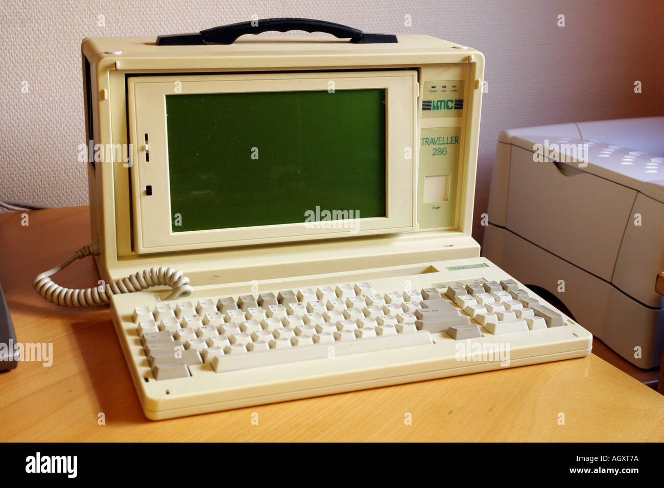Old 286 processor laptop - Stock Image