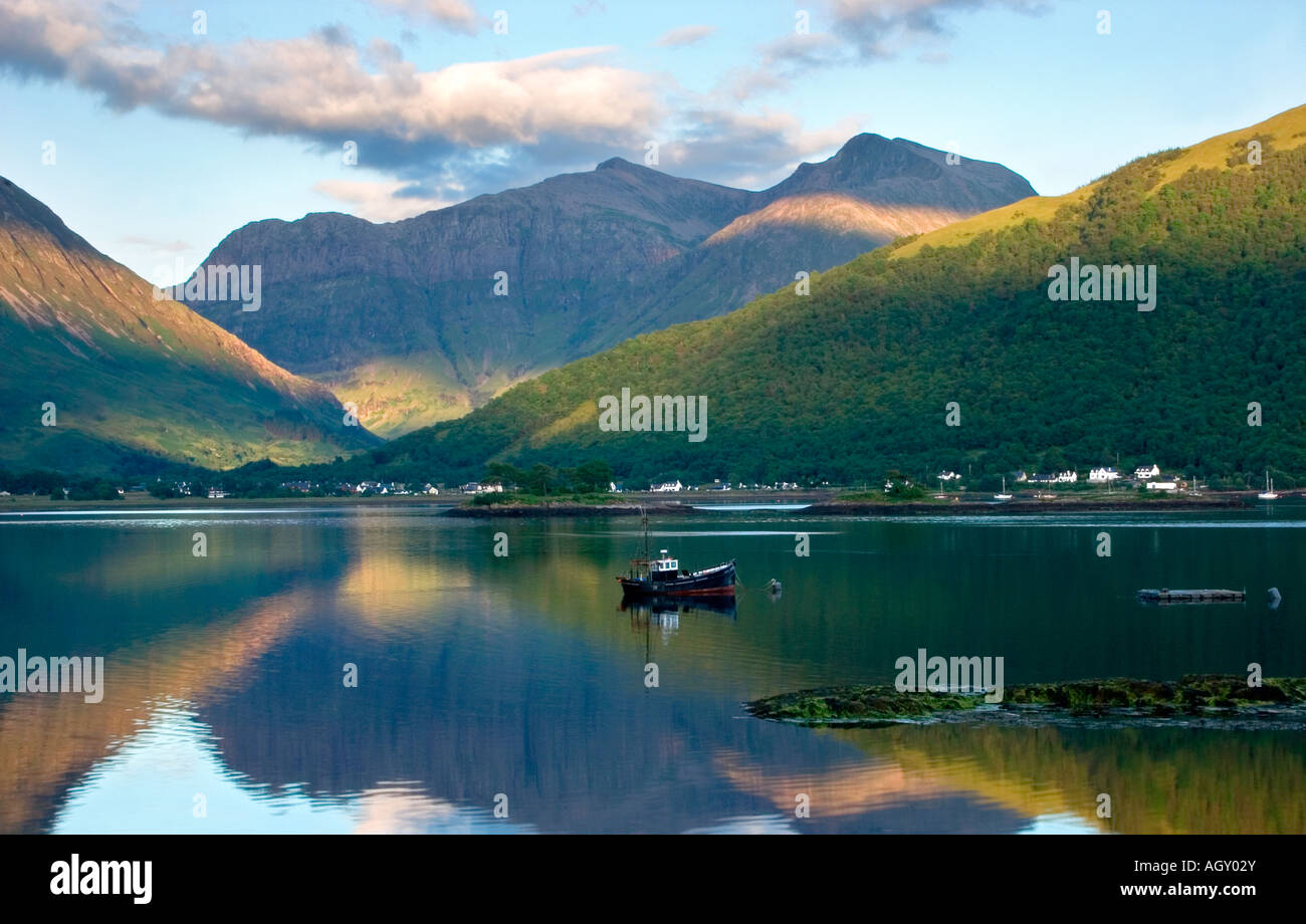 Summer evening at Loch Leven, near Ballachulish, Scotland, UK - Stock Image