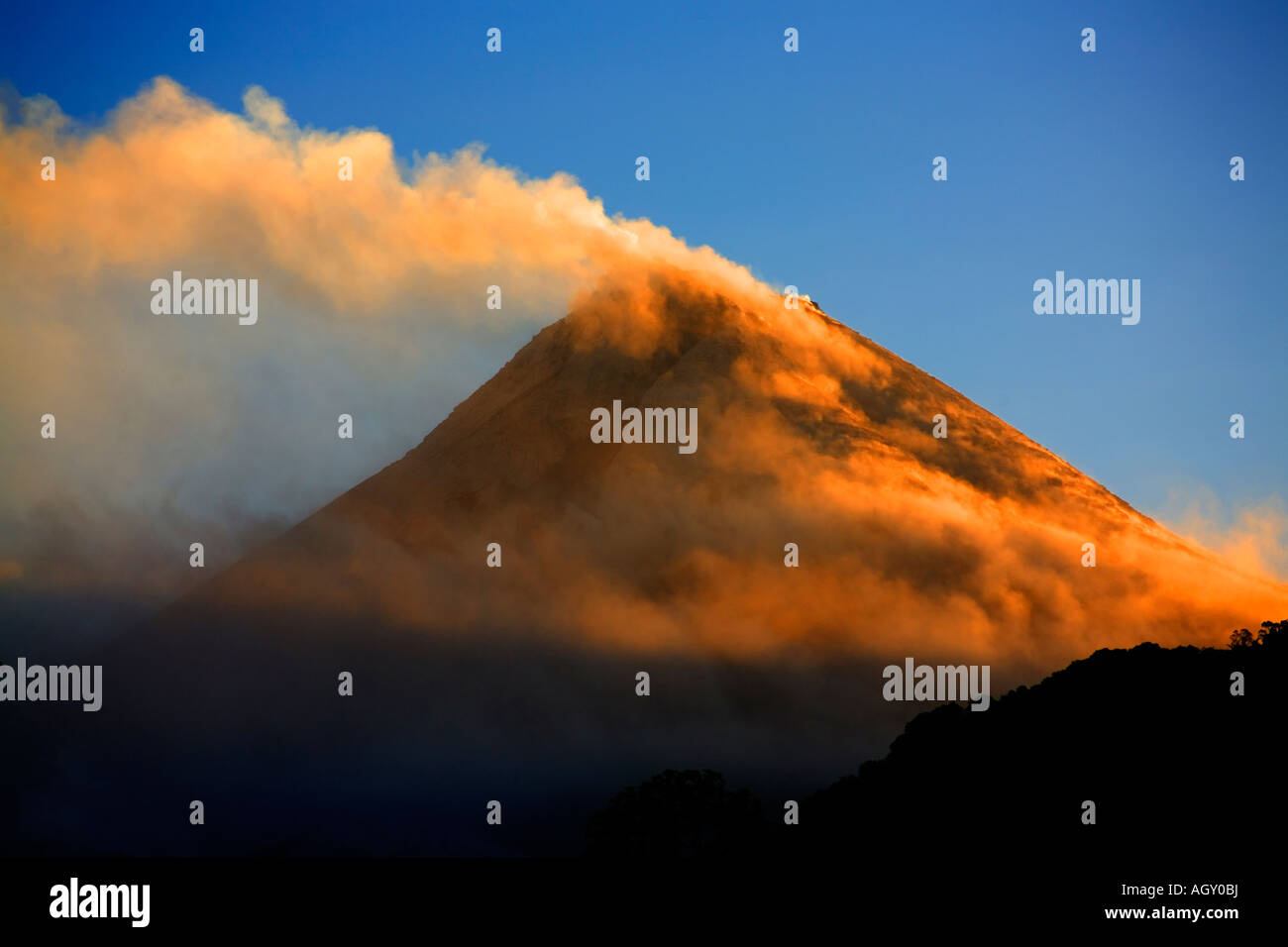 Mt. Merapi, East Java, Indonesia, a very active volcano - Stock Image