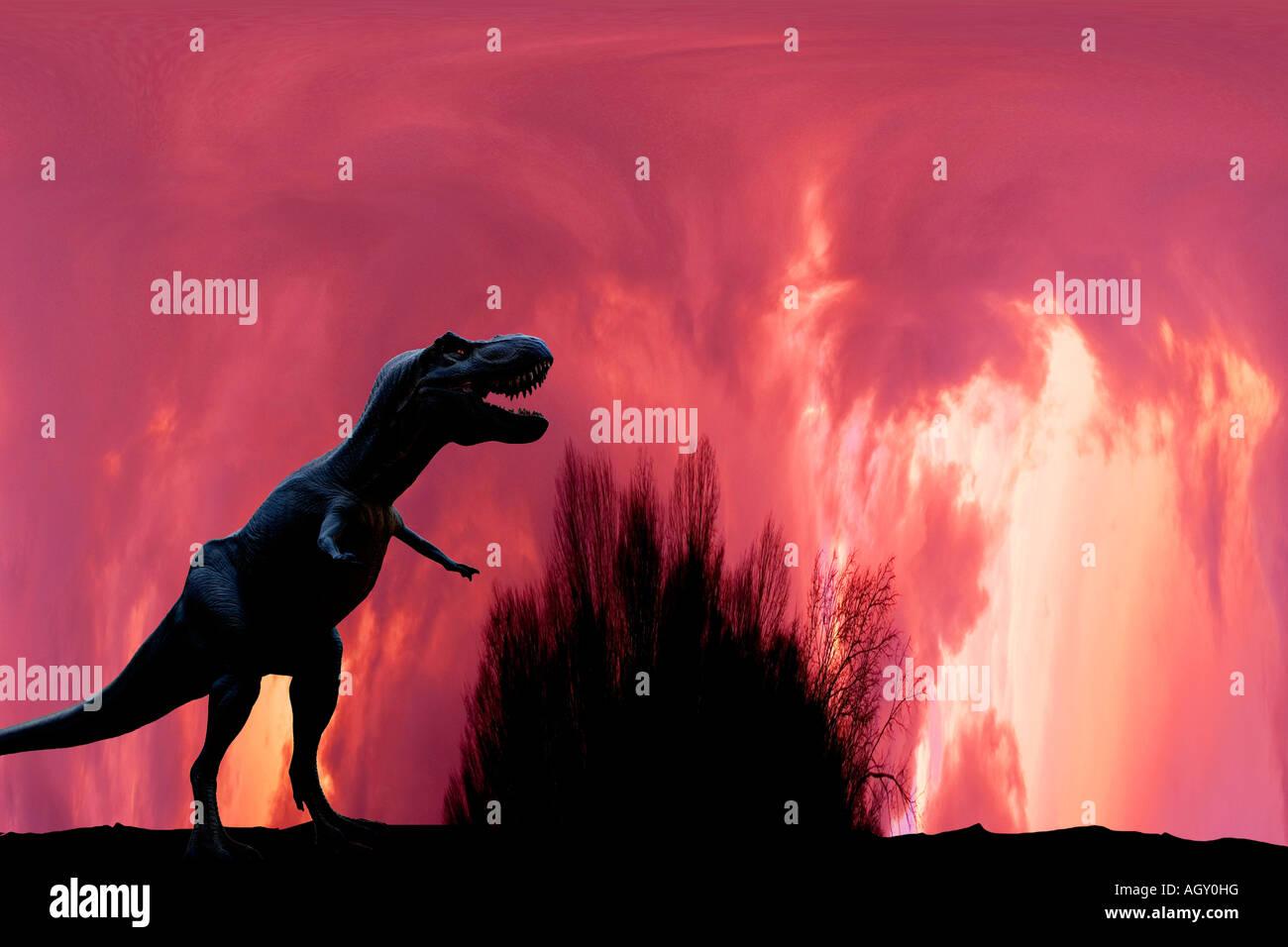 T-rex dinosaur - Stock Image