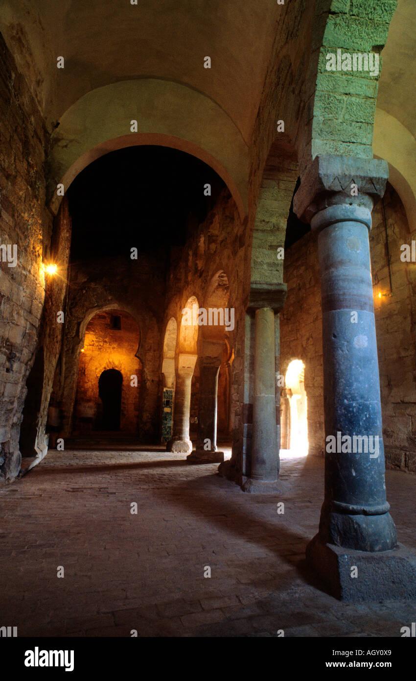 Suso Monastery Built between VI and XI Century San Millan de la Cogolla La Rioja Spain - Stock Image