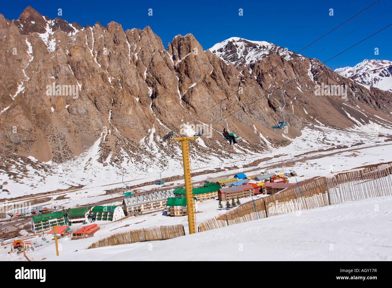 penitentes ski resort in mendoza, argentina stock photo: 14303722