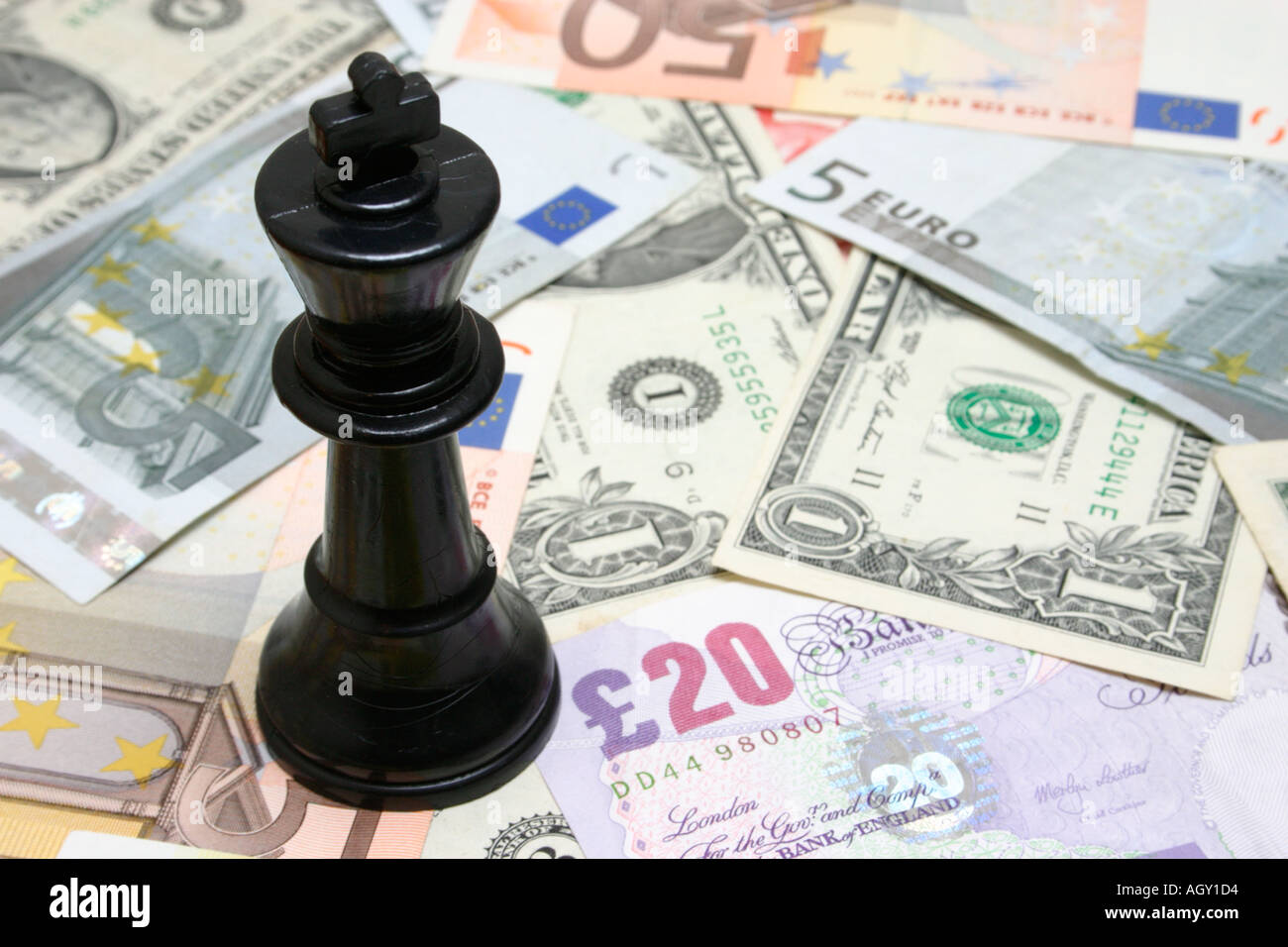cash is king - Stock Image