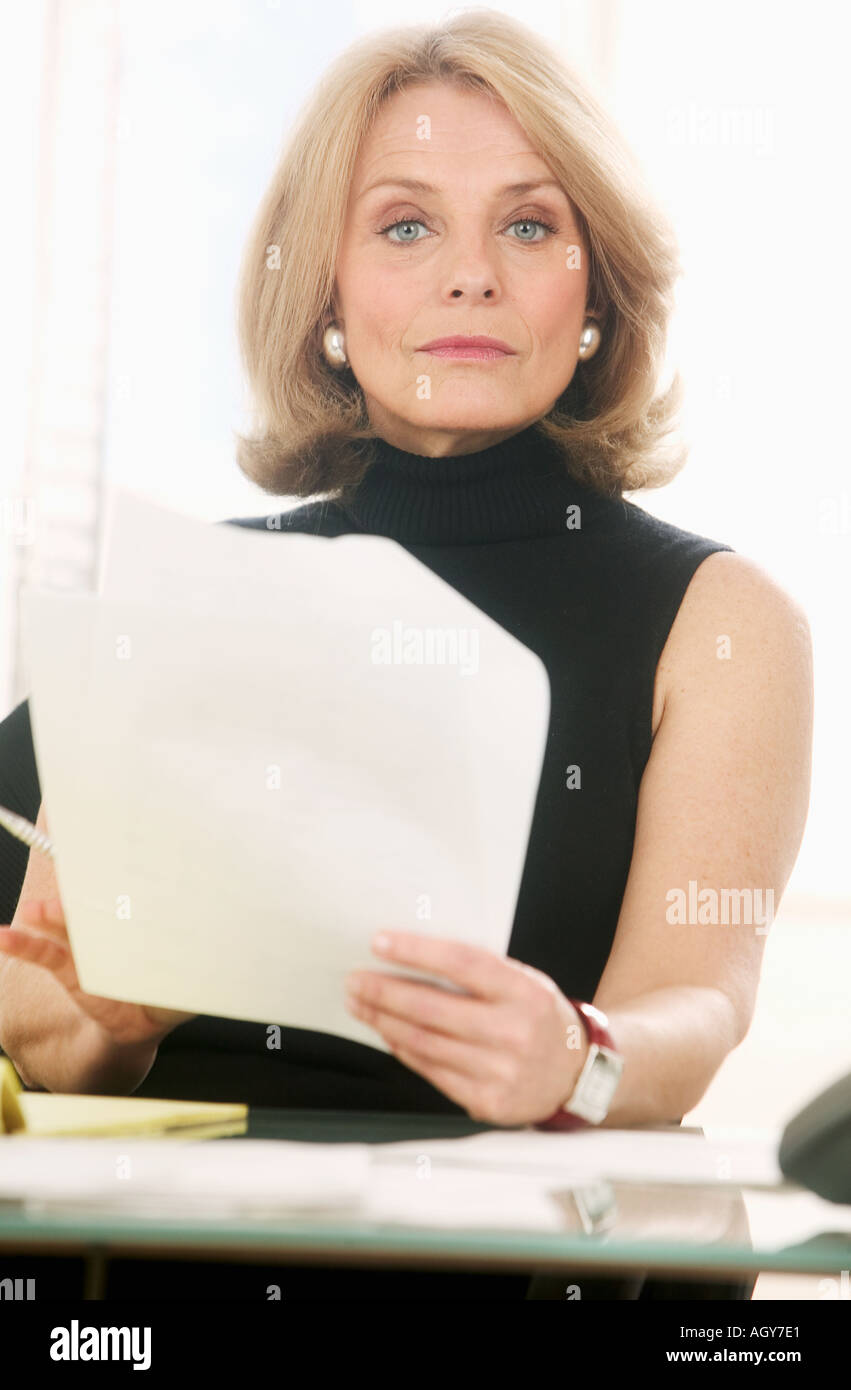 Portrait of a businesswoman at work - Stock Image