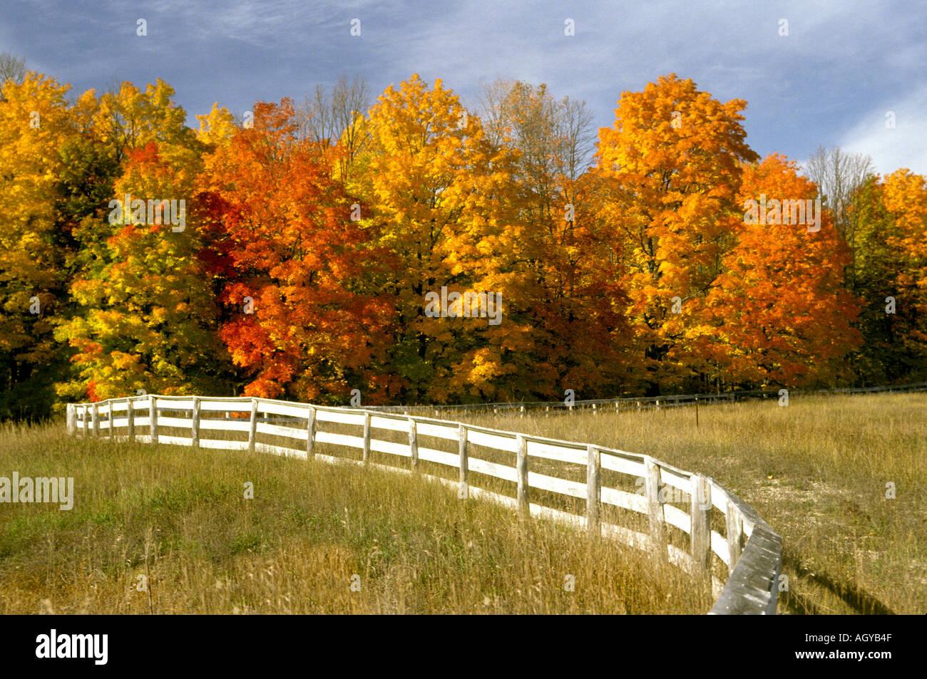 Autumn Scenic In Michigan S Upper Lower Peninsula Near Petoskey Stock Photo 2669390 Alamy