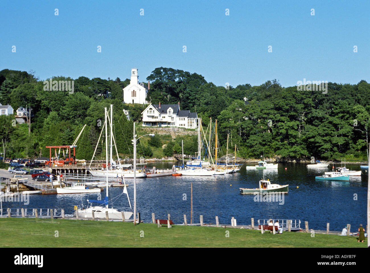 The seacoast town of Rockport Maine - Stock Image