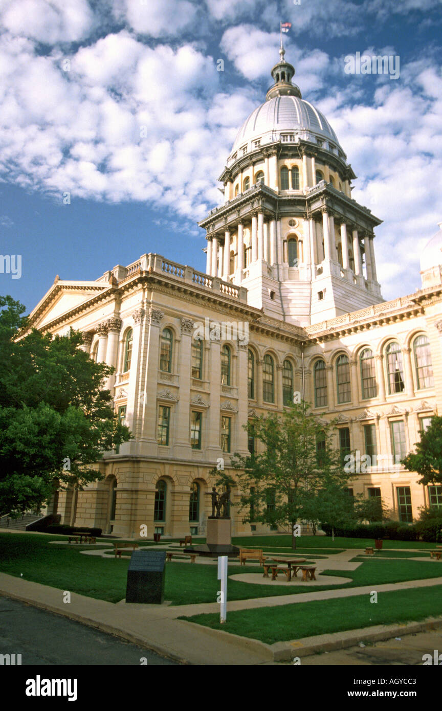 Springfield Illinois State Capitol Building Stock Photo