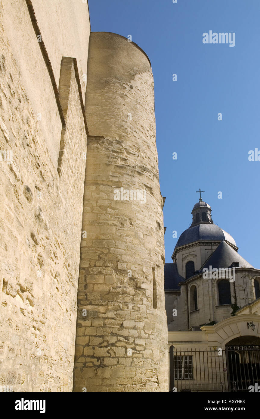France - Medieval fortification of King Philippe Auguste at Paris Stock Photo