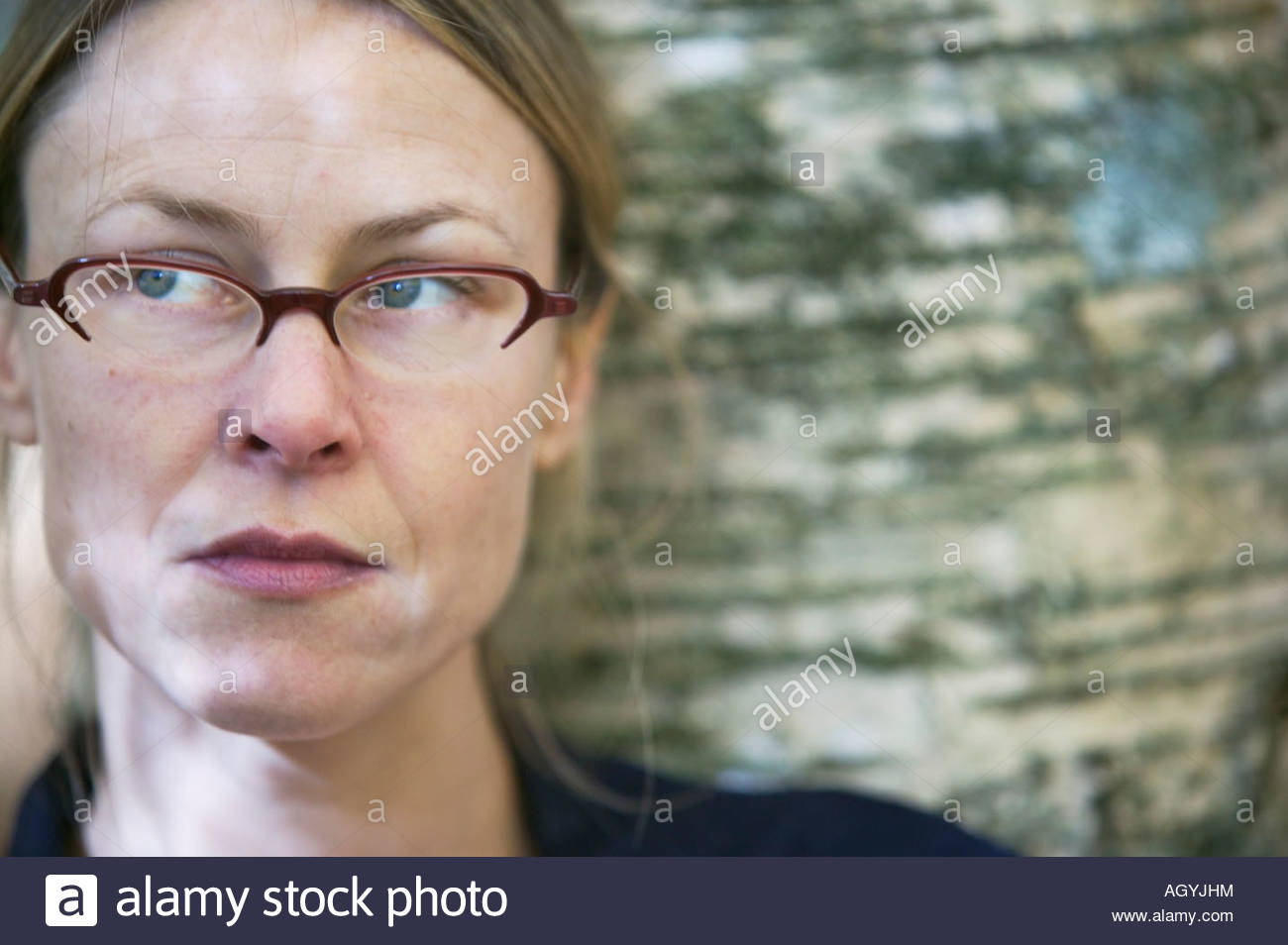 Woman in eyeglasses - Stock Image