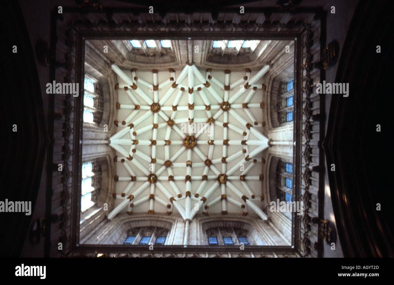 Ceiling of York Minster - Stock Image