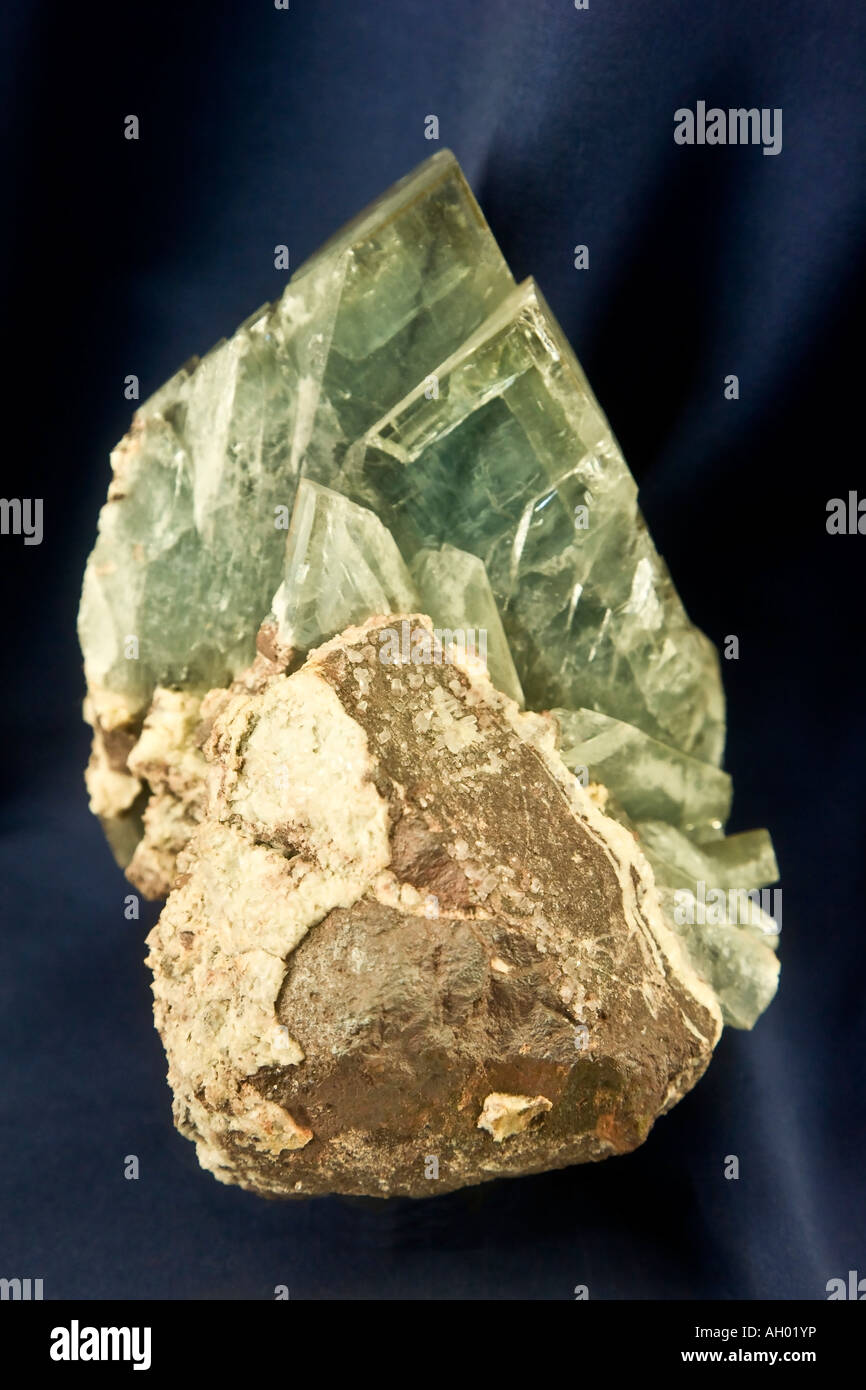 Barite minerals - Stock Image