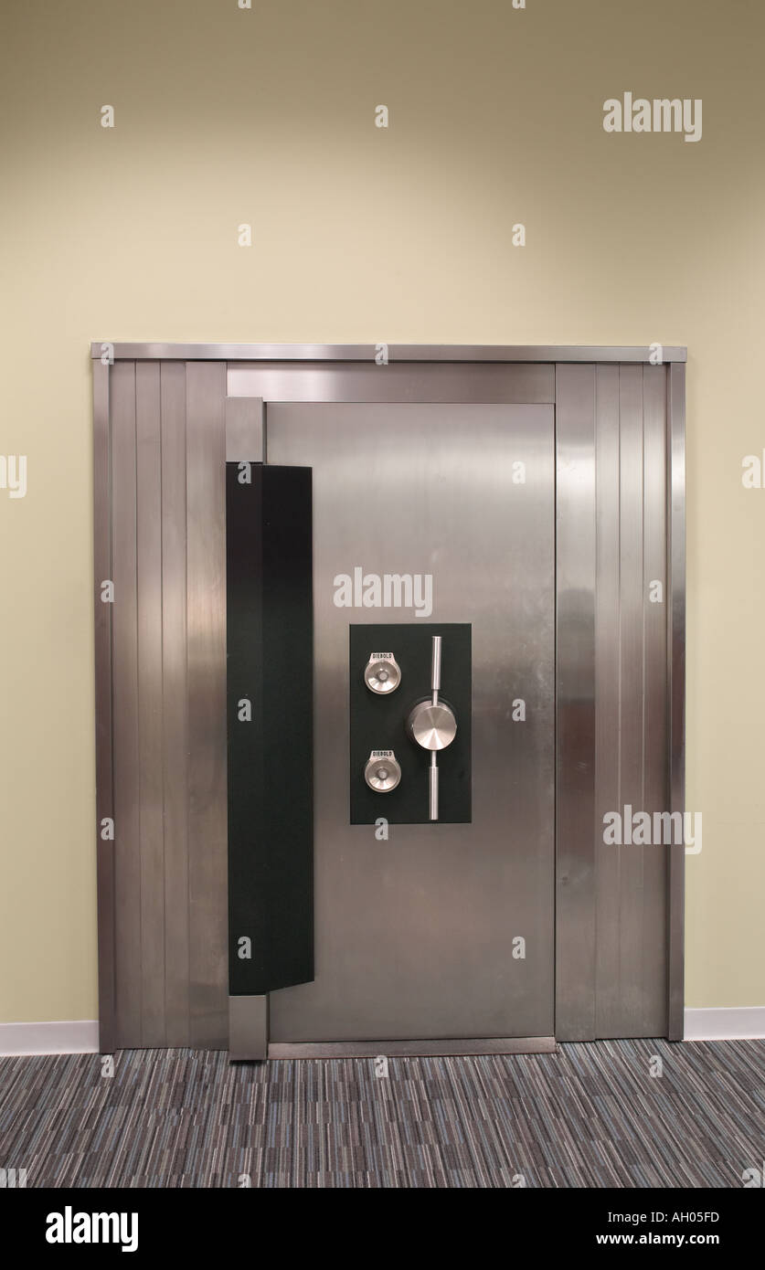 Modern New Bank Vault - Stock Image