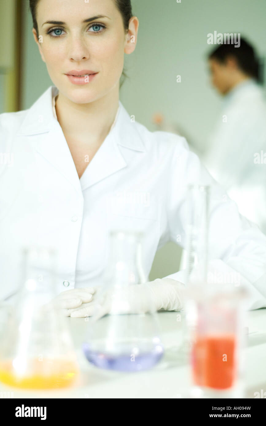 Female scientist, looking at camera, portrait Stock Photo