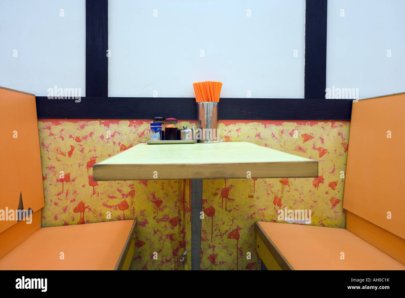 Empty Restaurant Booth High Resolution Stock Photography And Images Alamy