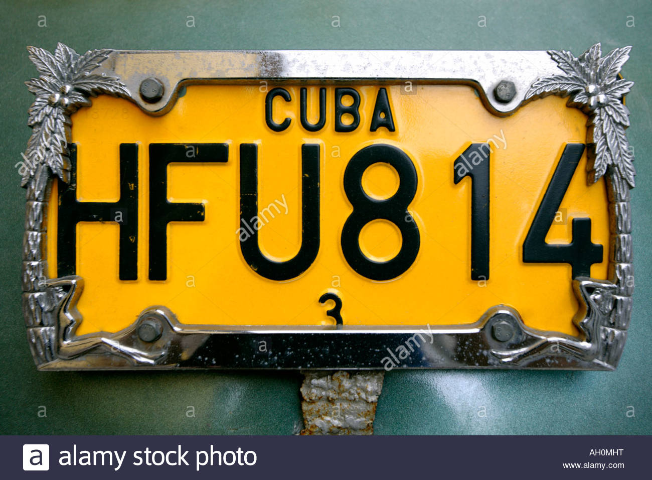 Decorative Car Number Plate Havana Cuba & Decorative Car Number Plate Havana Cuba Stock Photo: 14319635 - Alamy