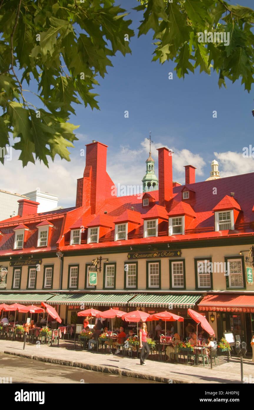 Canada Quebec Old Quebec City Auberge Du Tresor Outdoor Restaurant