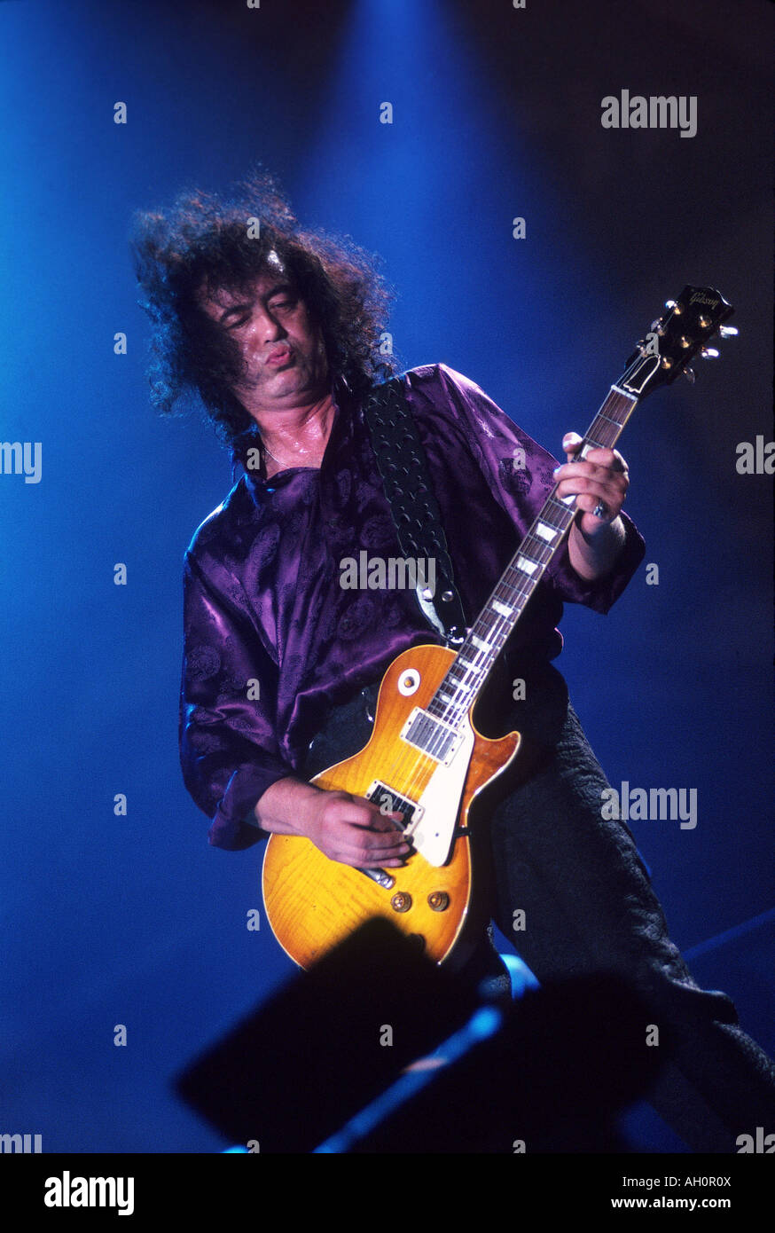 Photo Page: UK Guitarist With His Les Paul Guitar Stock