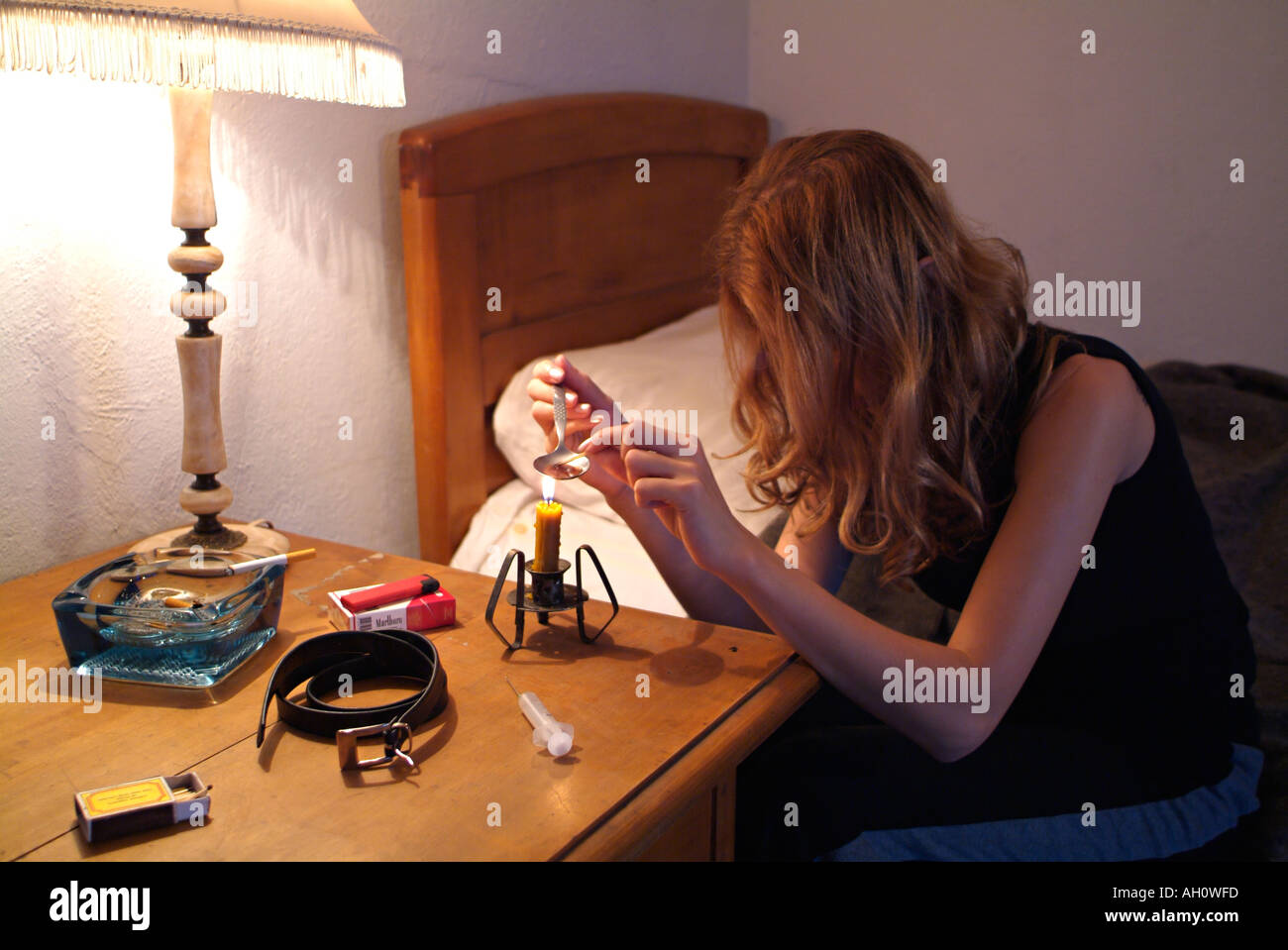 Heroin Addict - Stock Image
