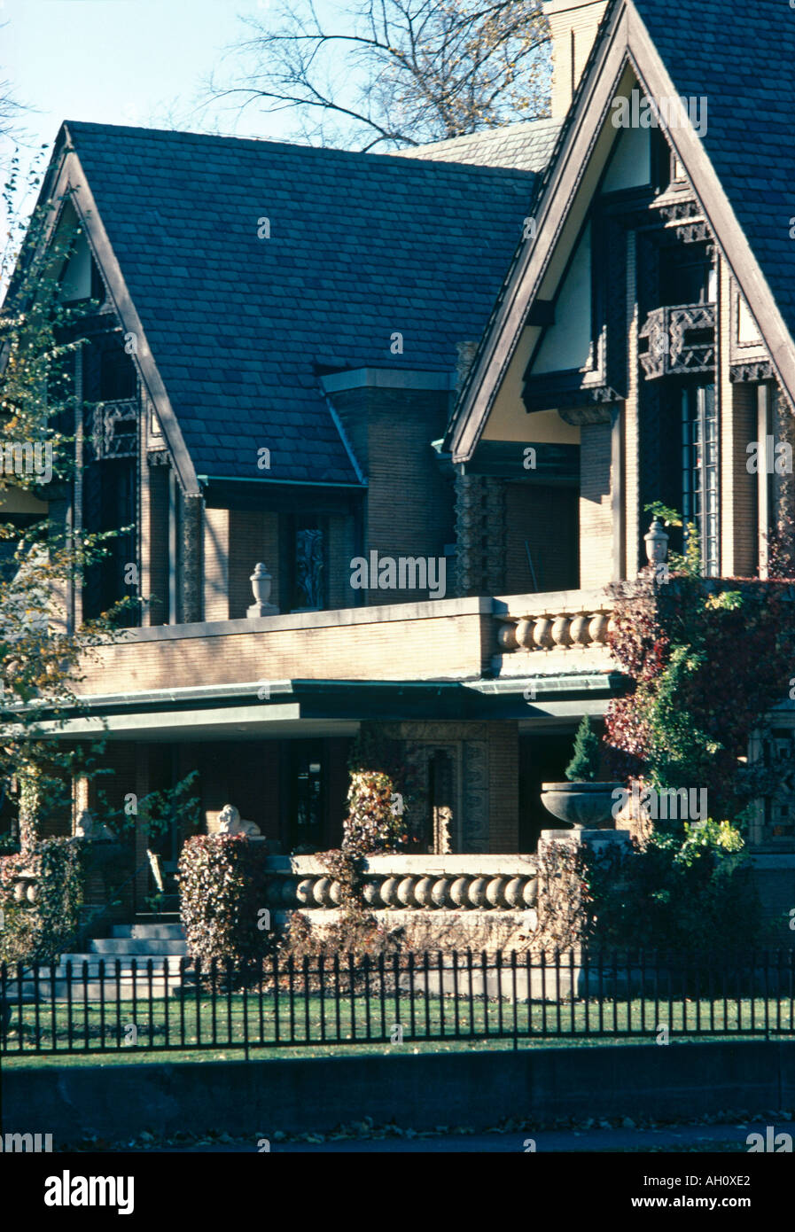 Nathan G. Moore House, 333  Forest Avenue, Oak Park, 1895. Exterior. Architect: Frank Lloyd Wright - Stock Image