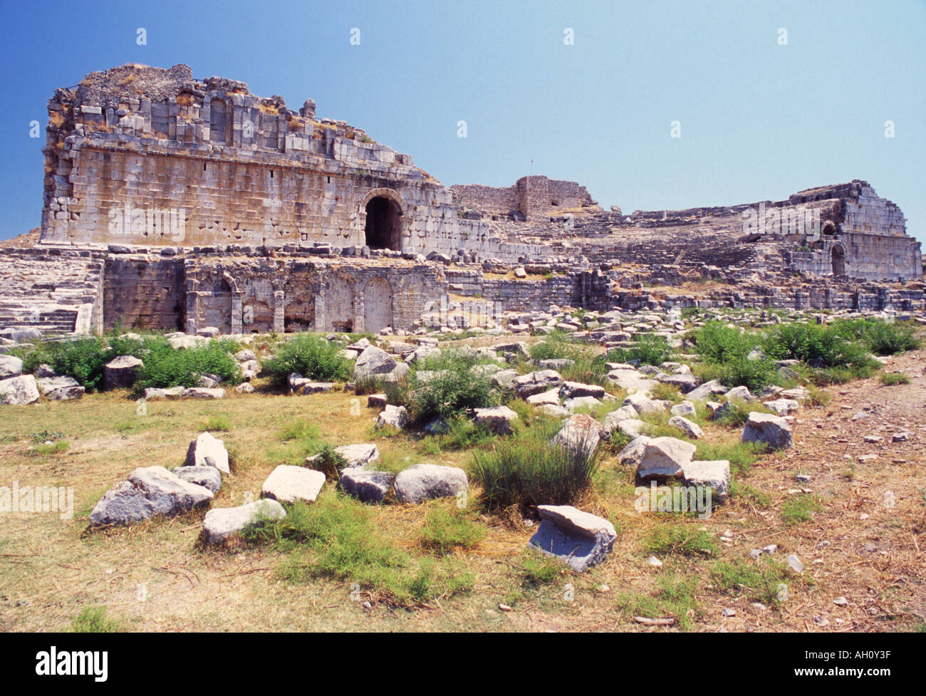 Miletus Milet Ancient Greek Amphitheatre Turkey - Stock Image