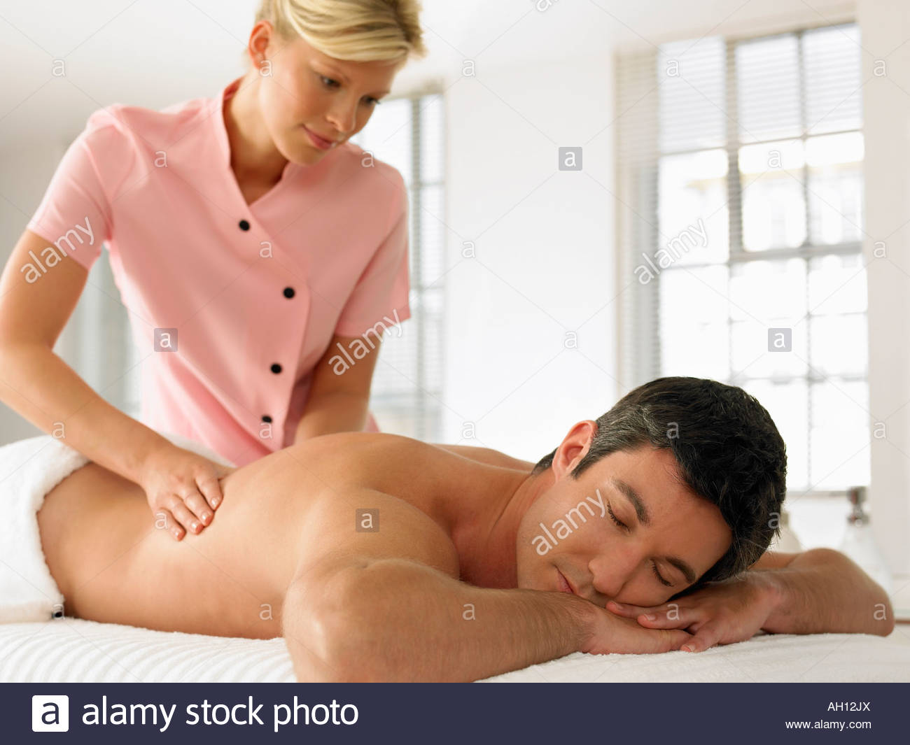 A man getting a massage Stock Photo