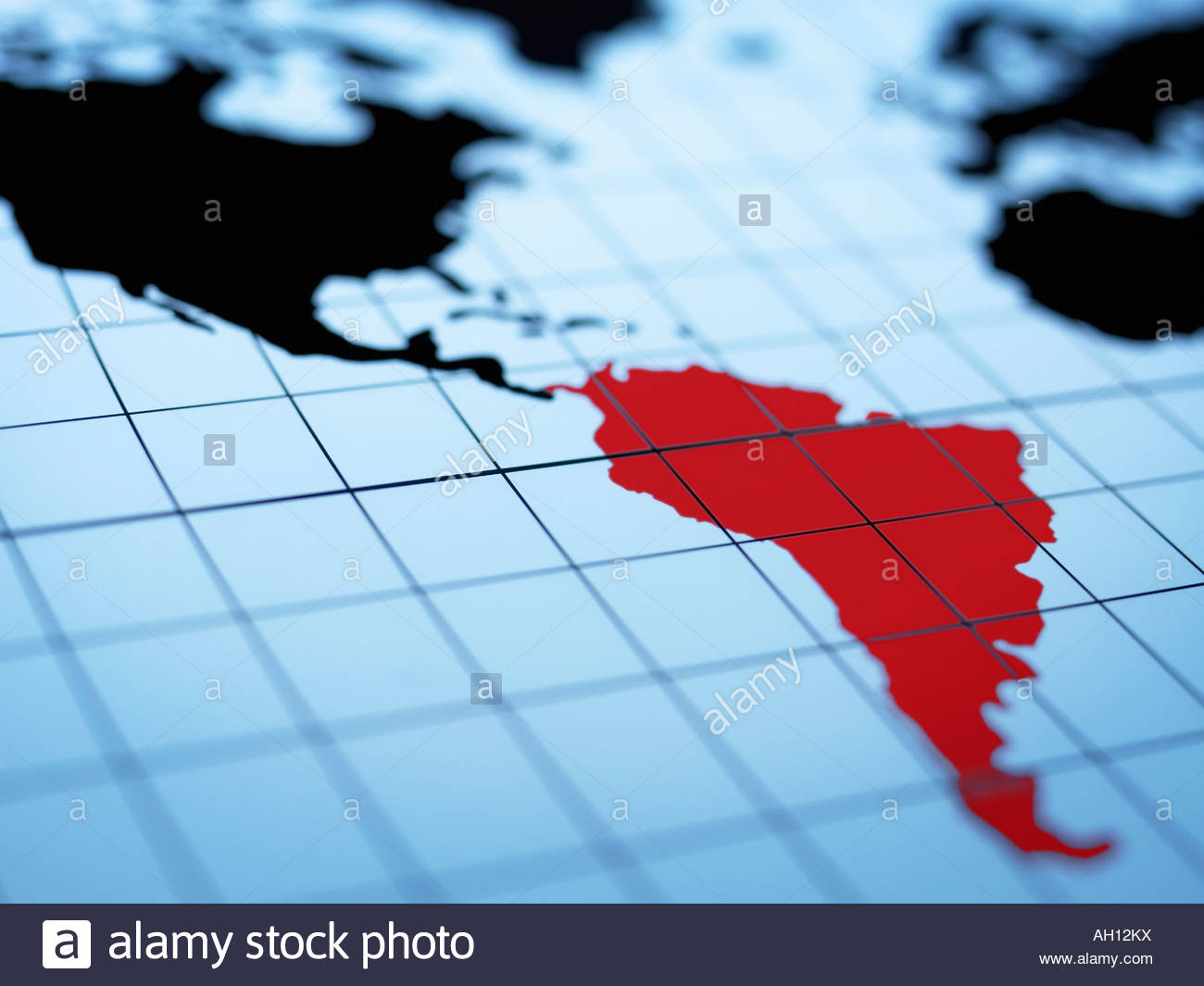 South hemisphere map stock photos south hemisphere map stock map of western hemisphere highlighting south america stock image gumiabroncs Gallery