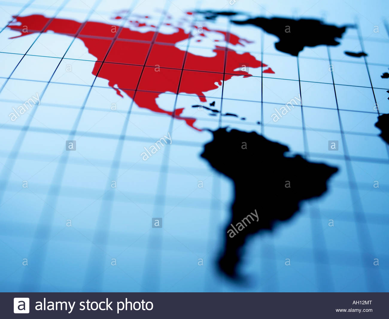 Map western hemisphere stock photos map western hemisphere stock map of western hemisphere highlighting north america stock image gumiabroncs