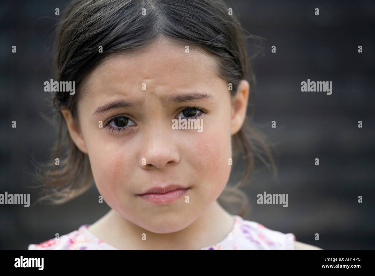 Girl Crying - Stock Image