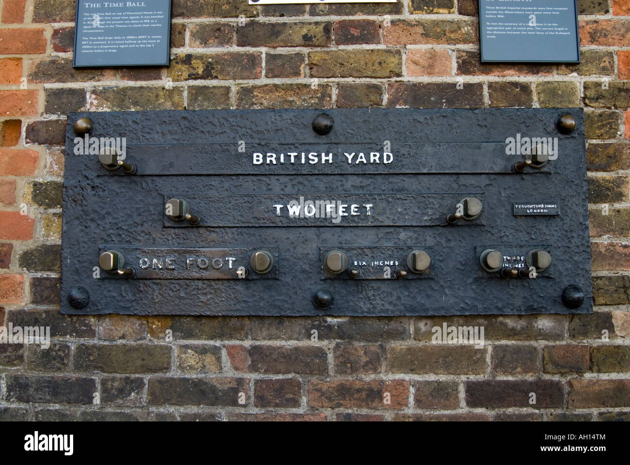 Imperial measurement gauge at the Royal Observatory in Greenwich London England UK - Stock Image