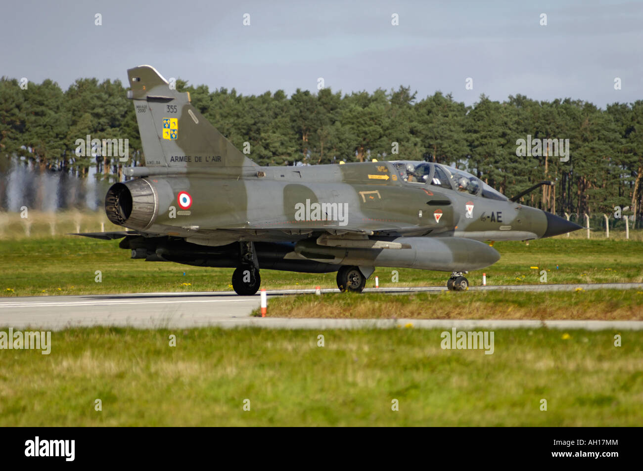 Dassault Mirage 2000N French Marine Navy Two Seat Trainer Variant Air Superiority Attack Fighter Jet Stock Photo