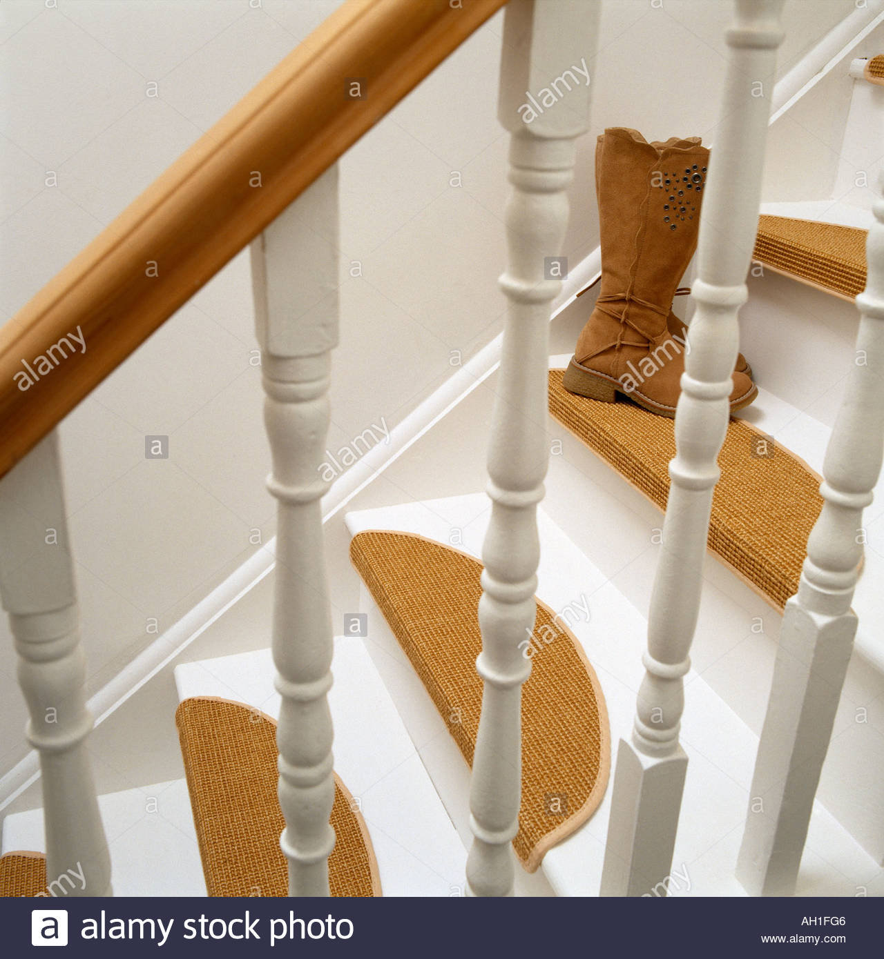 Carpet Treads On Stairs   Stock Image