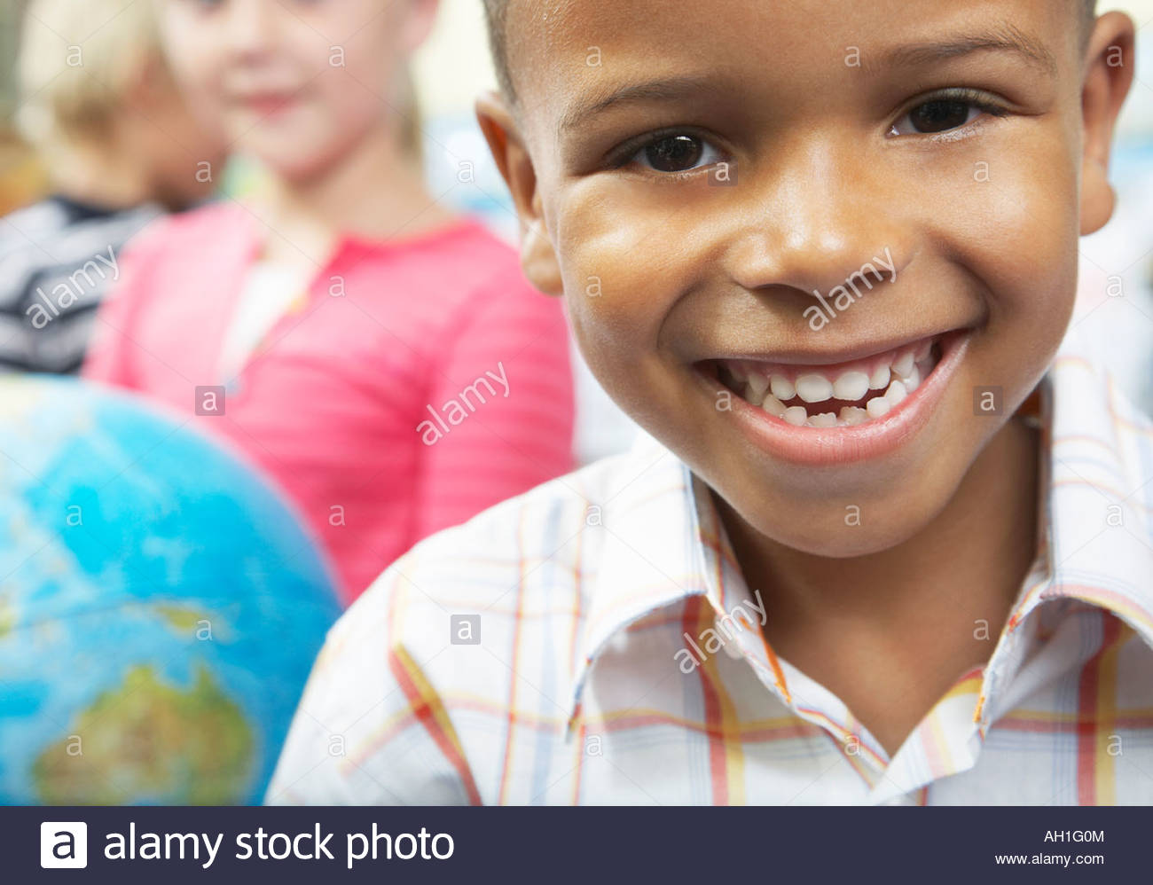 Students in geography class - Stock Image