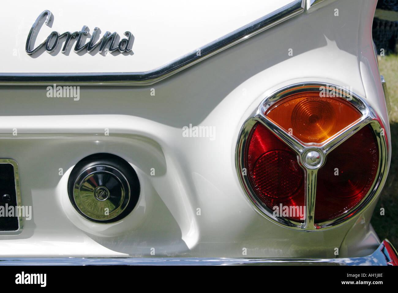 Ford Cortina Mark 1 ban the bomb tail light Stock Photo