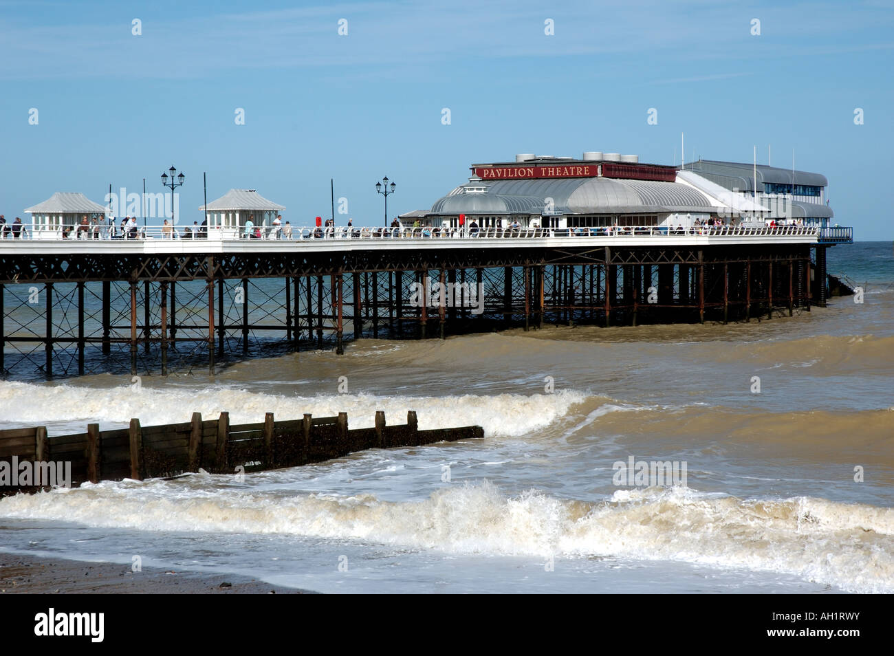 Cromer pier and Pavilion Theatre, home of the famous 'End of the Pier' show, Norfolk, UK - Stock Image