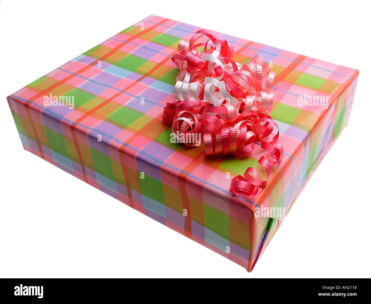 Wrapped Present For Happy Birthday Celebration