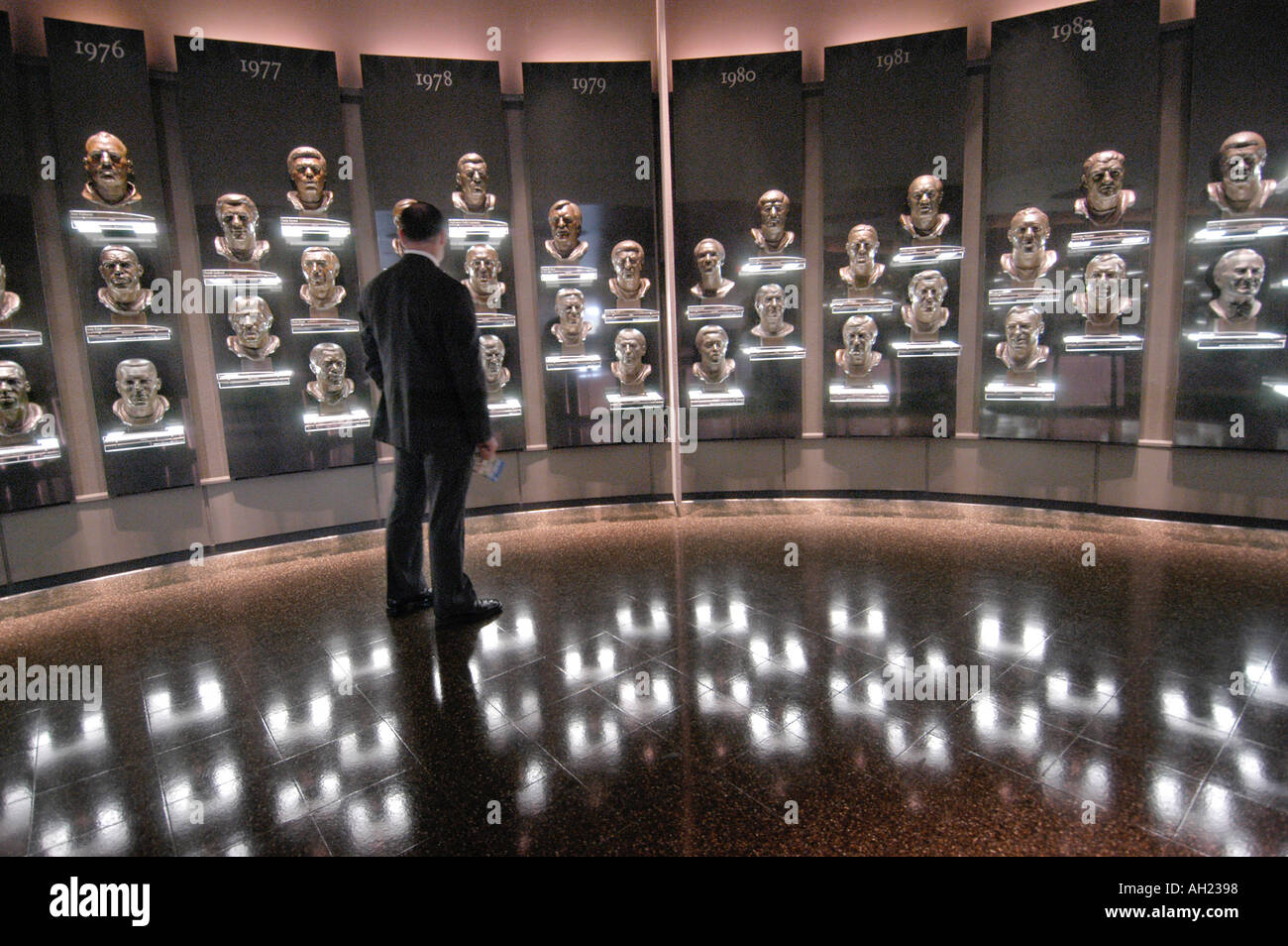 Professional Football Hall of Fame Canton Ohio - Stock Image