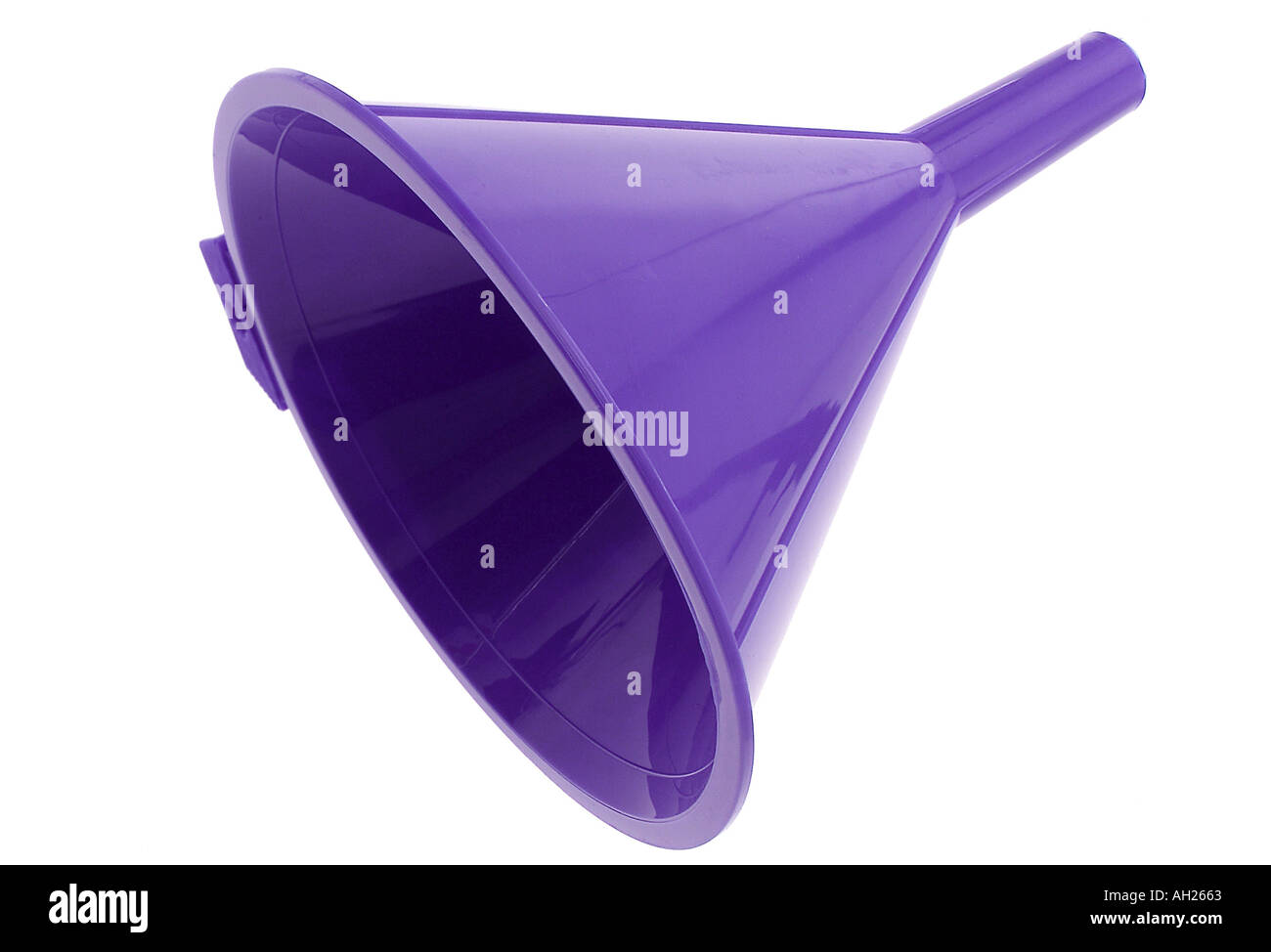 Purple Funnel - Stock Image