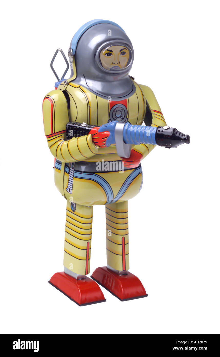Collectible retro robot toy - Stock Image