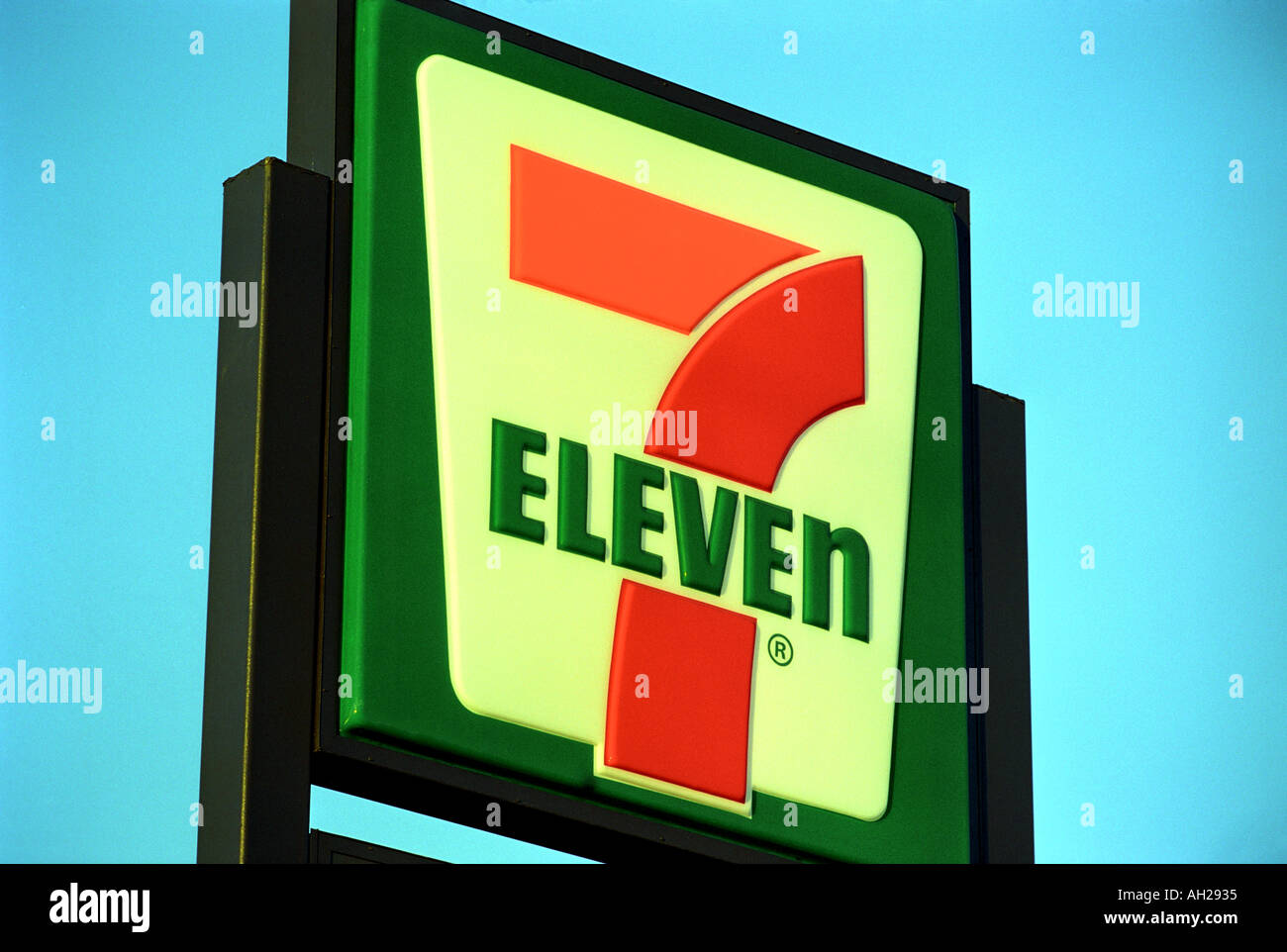7 Eleven sign, USA - Stock Image