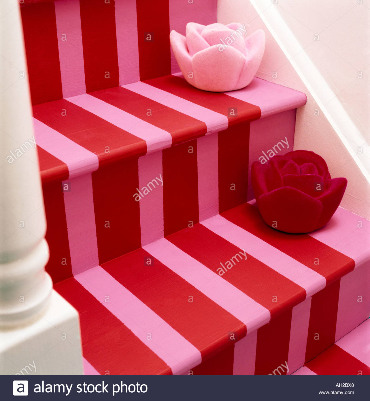 Painted staircase steps - Stock Image
