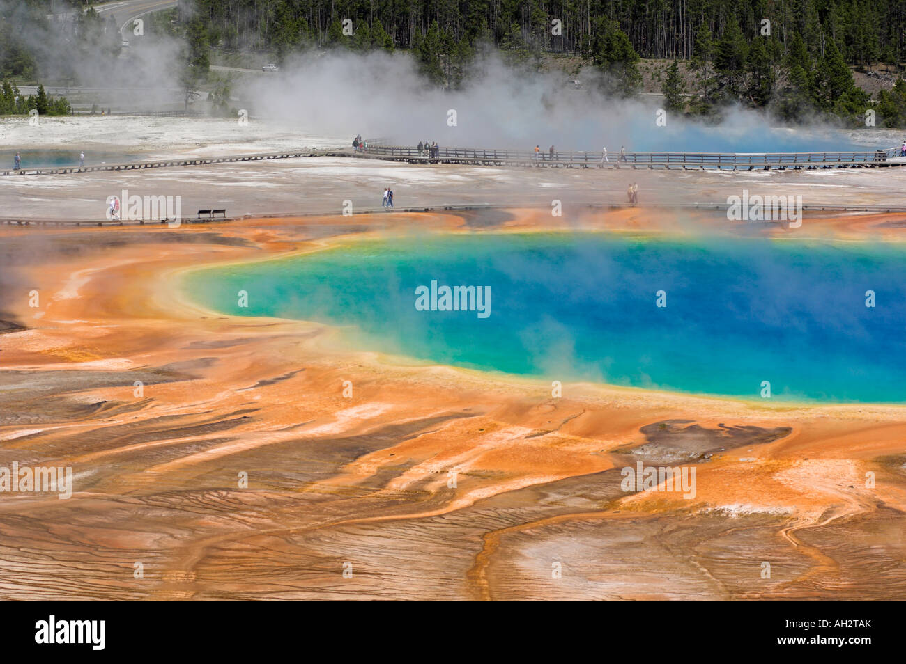 grand prismatic spring midway geyser basin yellowstone national park wyoming usa united states of america bhz - Stock Image